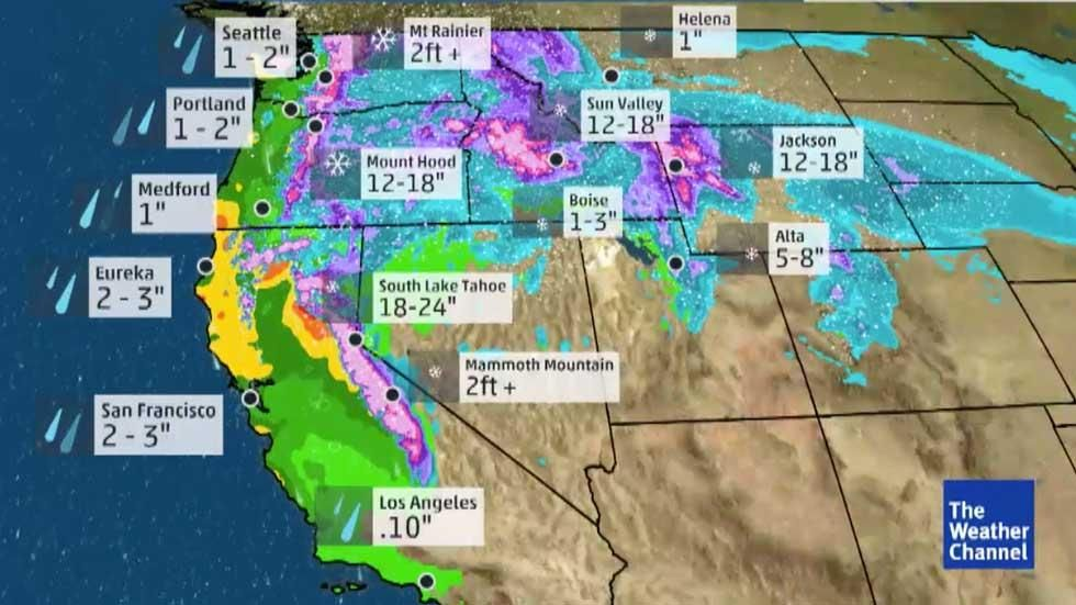 Meteorologist Kait Parker Is Tracking What Could Be Named Winter Storm Maya In The West Weather Underground South Lake Tahoe The Weather Channel