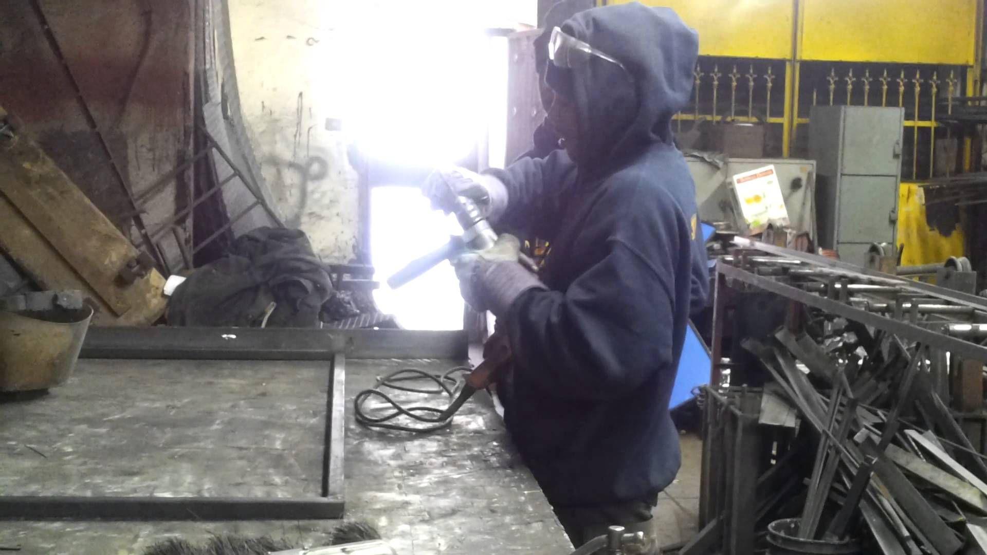 Our welder is teaching how to interchange drill bits.  #ironworkrepairs