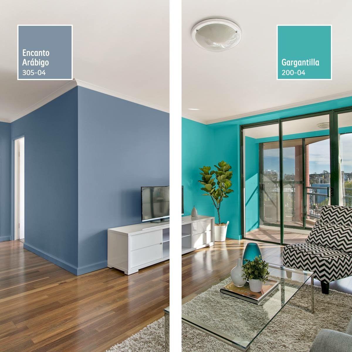 Azules Casas Pintadas Interior Combinaciones De Colores Interiores Colores De Interiores