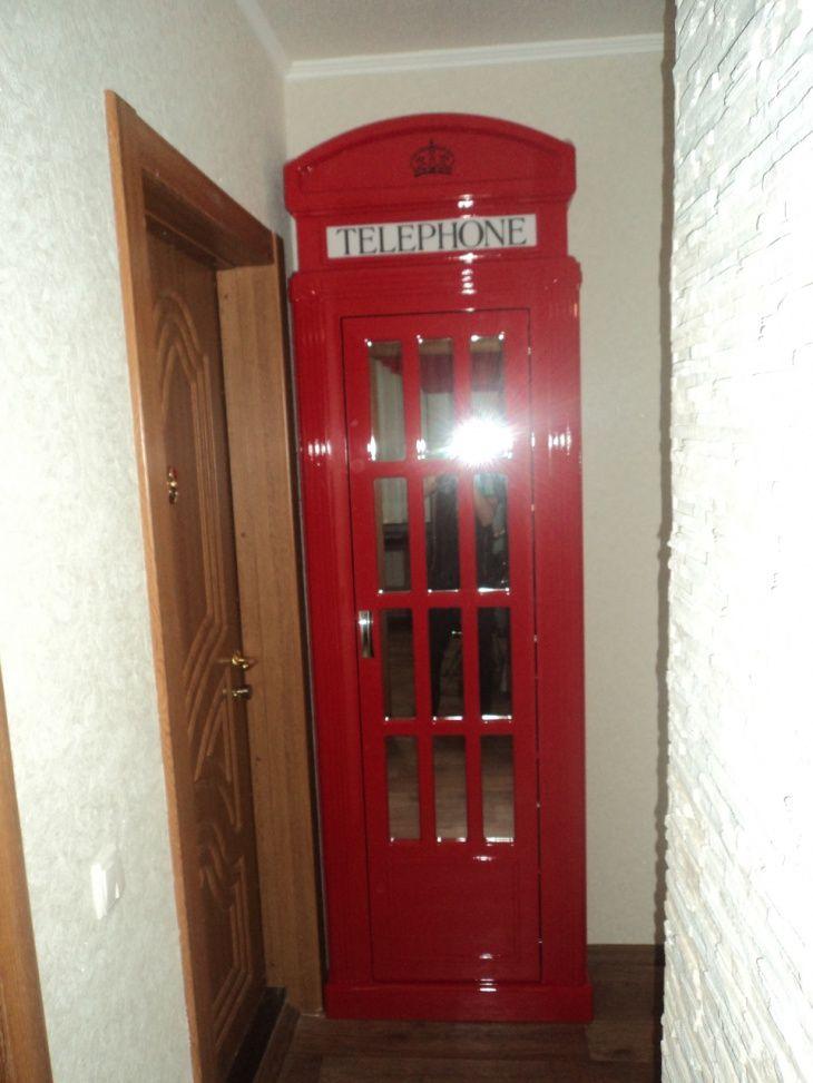 Шкаф в виде телефонной будки лондона своими руками 41