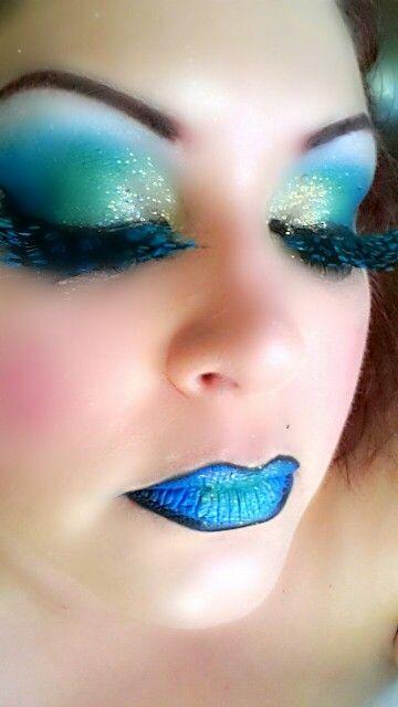 203b5c05bf5 Modern day Cleopatra #makeup#cleopatra#eyeshadow#lipstick#eyelashes#blue #green#bennye#crazy#extreme