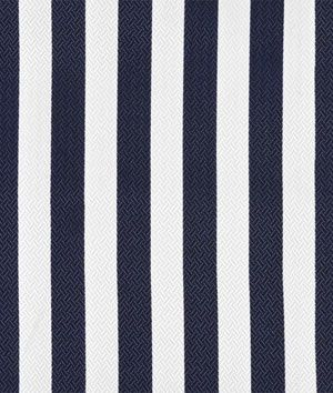 Chapman Stripe Navy Outdoor Fabric