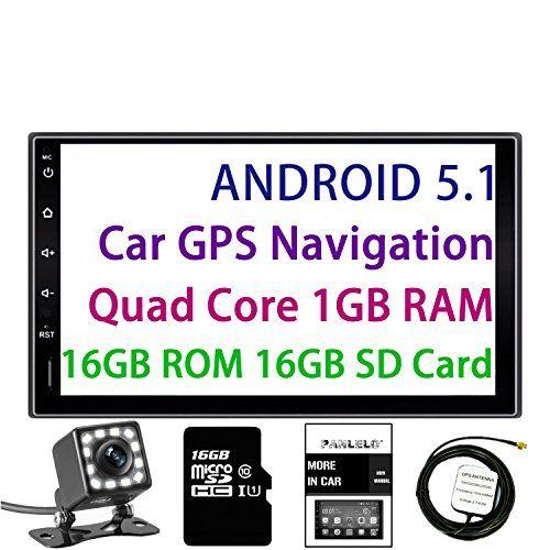 Panlelo Android 5 1 Head Unit 7 Inch 2 Din Quad Core Ram 1g Rom 16g Gps Navigation Car Stereo Audio Radio 1080p Vi Car Stereo Gps Navigation Android Navigation