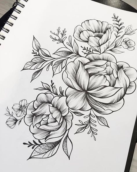 Peonies Sketch Linework Dotwork Eightlines Twofloors Peony Flower Tattoos Flower Tattoo Sleeve Rose Tattoos