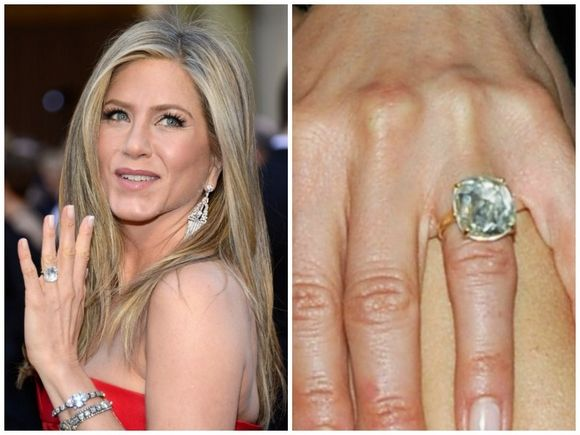 celebrity engagement rings on fingers 39 - Jennifer Aniston Wedding Ring