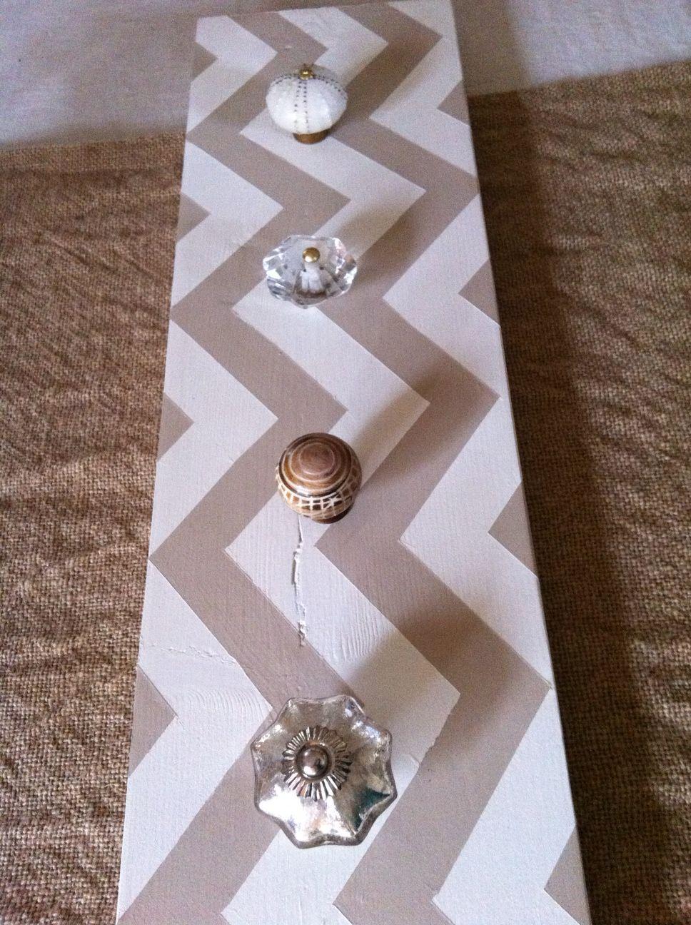 DIY coat rack or jewelry hanger d i y c r a f t s Pinterest