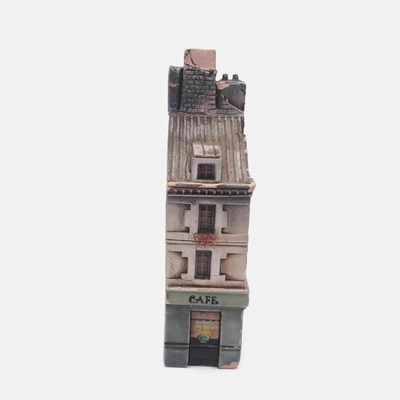 Vintage Gault France Ceramic Cafe des Artistes Paris Miniature Building #ceramiccafe