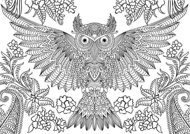 Owl Coloring Pages For Adults Free Detailed Owl Coloring Pages Owl Coloring Pages Detailed Coloring Pages Animal Coloring Pages