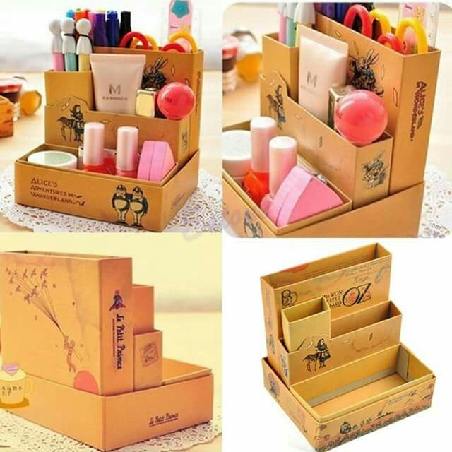 Cardboard Storage Box Decorative Set Escritorio  De Todo En Manualidades Muñecas Peluches