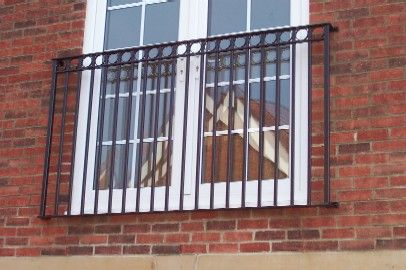 Assorted: Wrought Iron Balconie 100cms High x 120cms Long [WROMV2PF24]