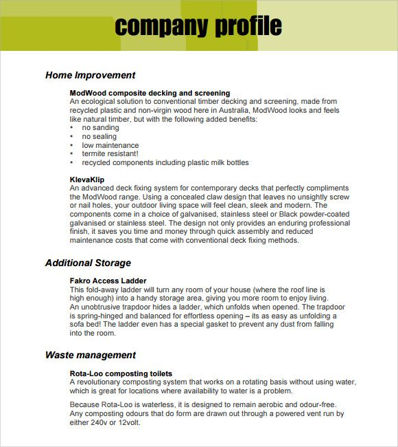 Format For Writing Company Profile Free 30 Company Profile Samples Templates In Pdf