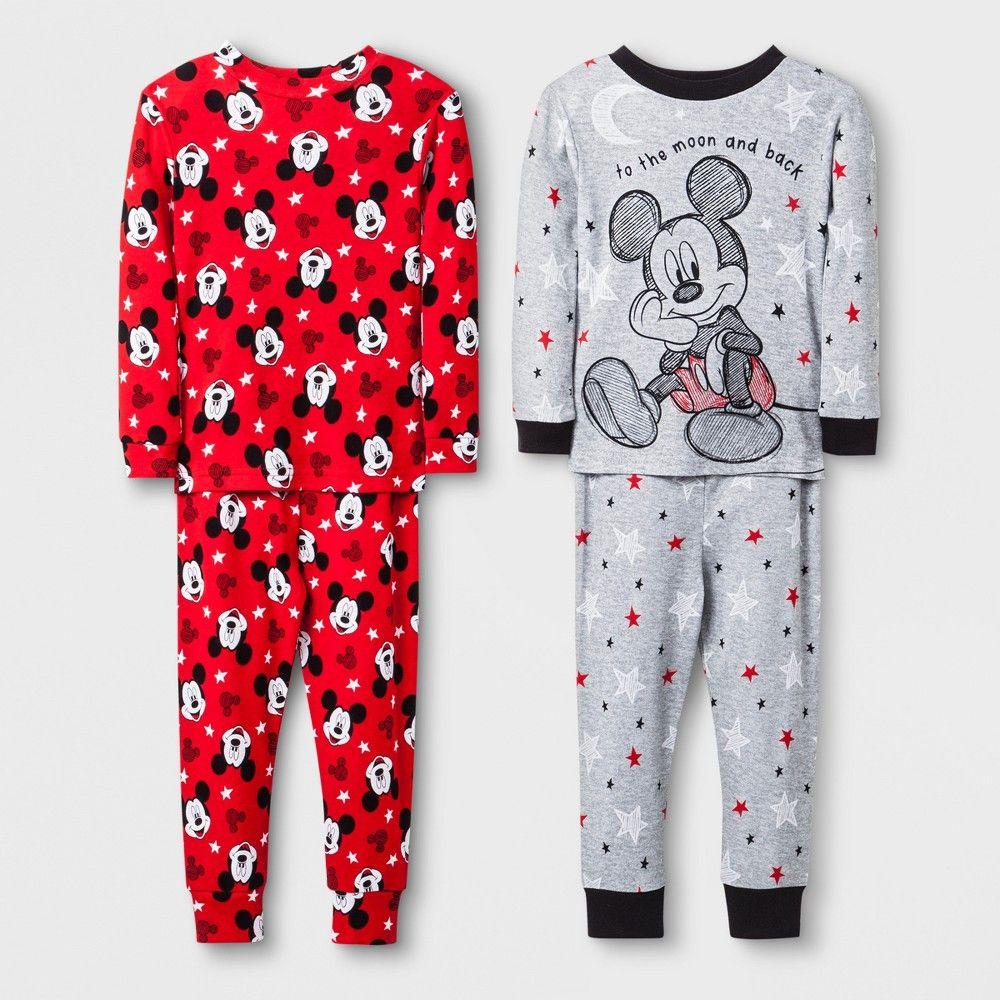 23dc64e10 Toddler Boys  Mickey Mouse 4pc Pajama Set - Grey 2T
