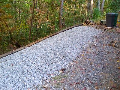 Raised Walkways And Repairing Old Stone Patios Gravel Driveway Landscaping Driveway Landscaping Driveway Edging