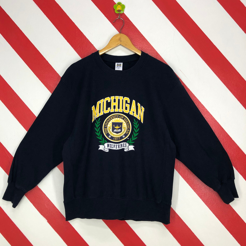 Vintage Michigan Wolverines Sweatshirt University Michigan Etsy Vintage Michigan Sweatshirts Michigan Sweatshirt [ 3000 x 3000 Pixel ]