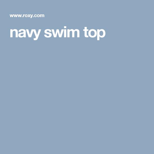 navy swim top