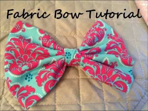 Fabric Bow Tutorial  In this video, I give you step by step instructions on how to make an Oversized Fabric Bow. The bow measures 7 inches wide when it is completed. I hope you enjoy the tutorial, and please subscribe for future tutorials to come.  www.nenruiz.com www.facebook.com/nenruiz03 www.twitter.com/nenruiz