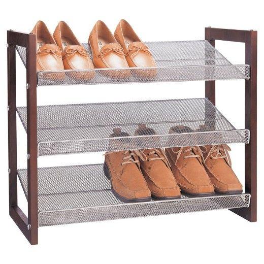 Neu Home 3 Tier Shoe Shelf With Images Stackable Shoe Rack