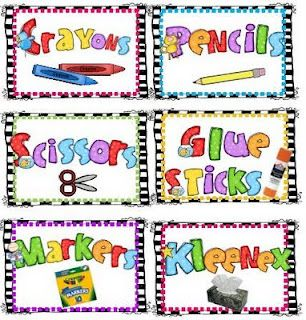 FREE school supply labels