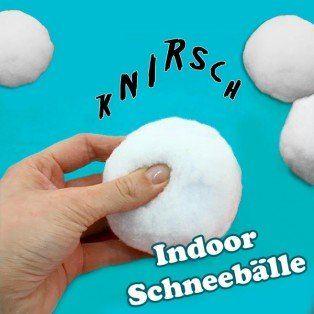Indoor Schneebälle f.Schneeballschlacht, 4 Stk., echt knirschend, 8cm