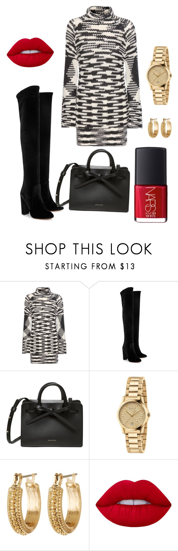 """""""Untitled #610"""" by stylemirror ❤ liked on Polyvore featuring Missoni, Aquazzura, Gucci, Melrose & Market, Lime Crime and NARS Cosmetics"""