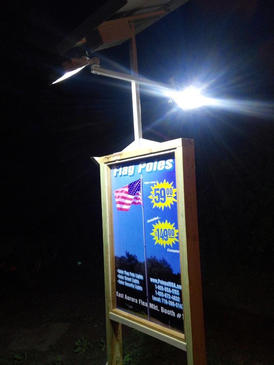 Solar Billboard Light Commercial Solar Lighting The Brightest