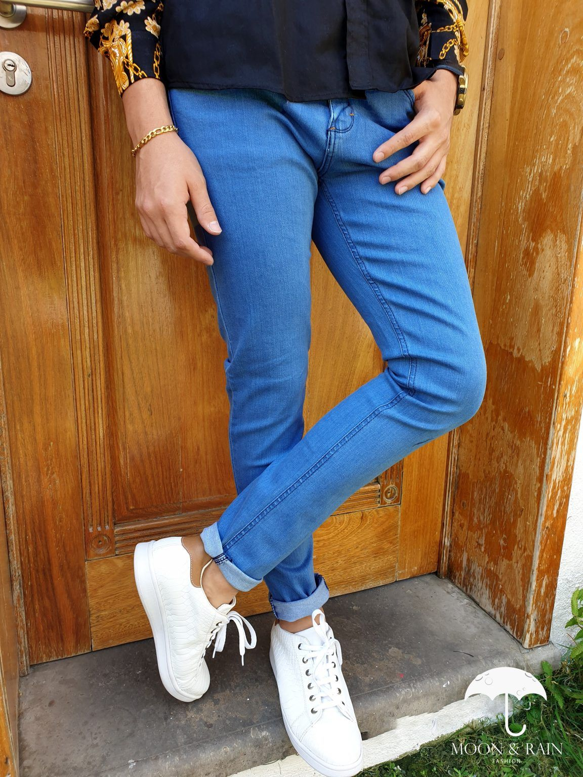 Jeans Skinny Azul Claro liso Style 007 Moon & Rain