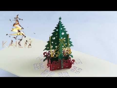 KAILIZ Christmas Tree Card 3D Christmas Card