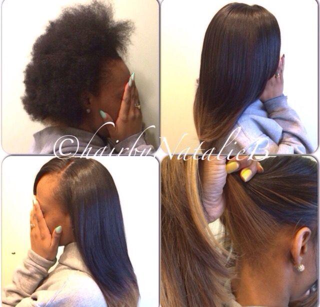 Blowout straighten styled noweave ombre natural hairstyles blowout straighten styled noweave ombre fandeluxe Epub
