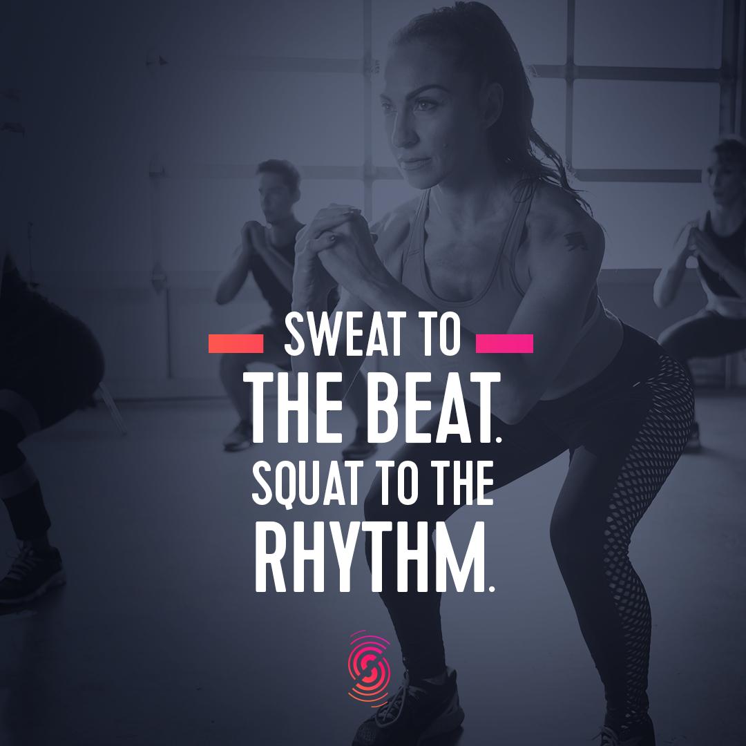 Sweat To The Beat Squat To The Rythm Strong By Zumba Zumba Strong Zumba Workout Zumba Meme