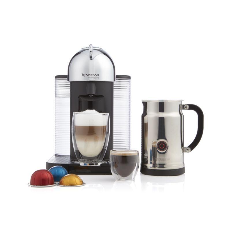 Nespresso By Breville Vertuoline Chrome Coffee Espresso Maker Bundle Reviews Crate And Barrel Coffee And Espresso Maker Nespresso Coffee Maker
