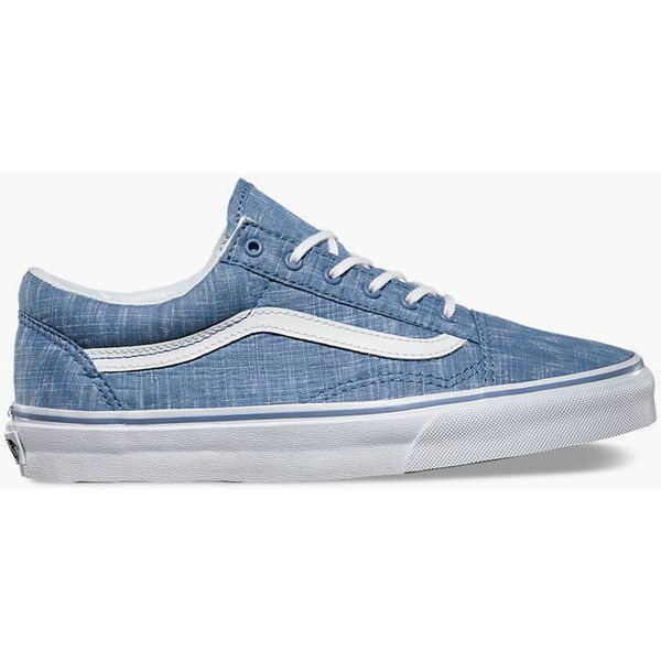 1428cf3ae2 Vans Denim Chevron Old Skool Womens Shoes ( 65) ❤ liked on Polyvore  featuring shoes