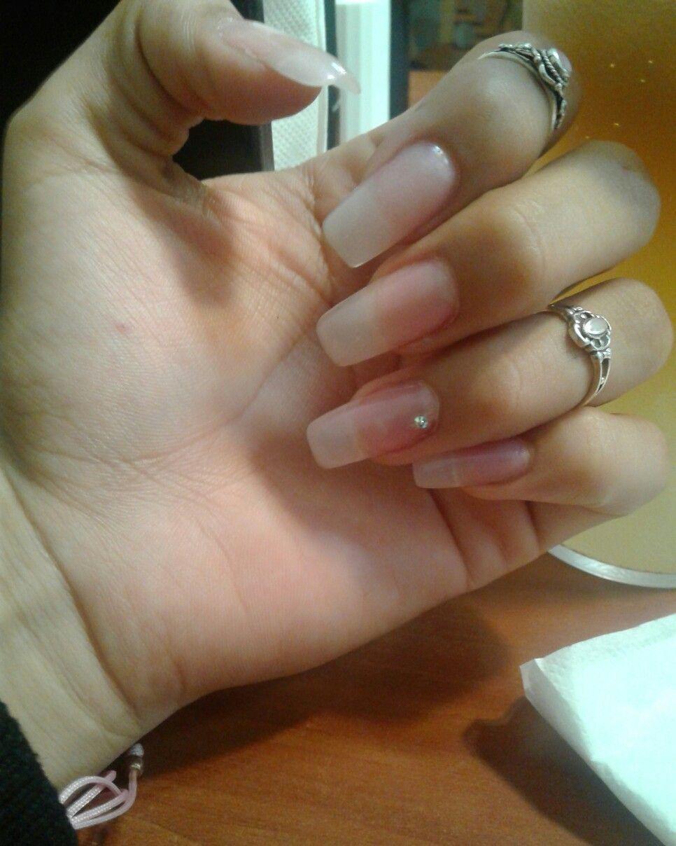 Simple Natural Looking Just Perfect Acrylic Nails