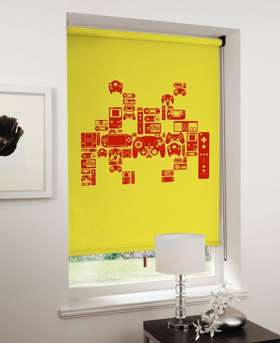 8-Bit Blinds Featuring Pac-Man And Space Invaders | Space invaders ...