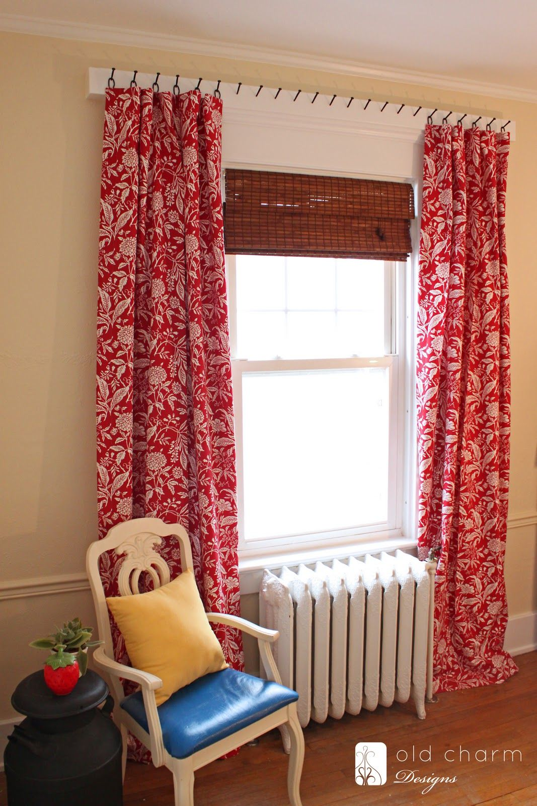 Curtains Hung With Forged Nails Diy Curtain Rod Diy Curtains