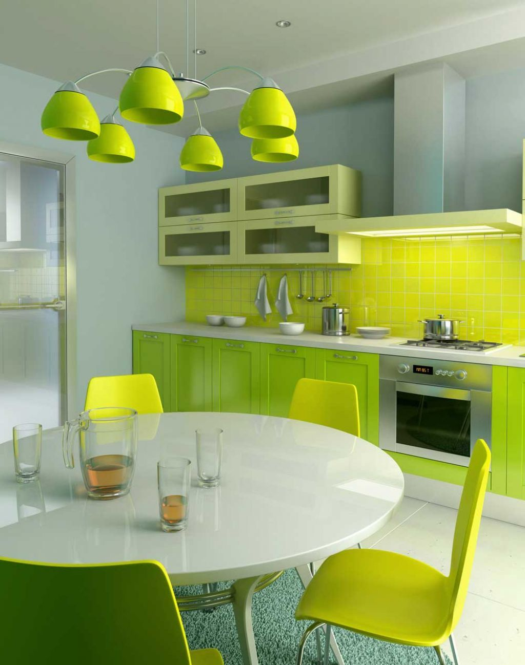 Mural Of Color Your Modern Minimalist Kitchen With Soft Light Acrylic  Backsplash For A Live Tone