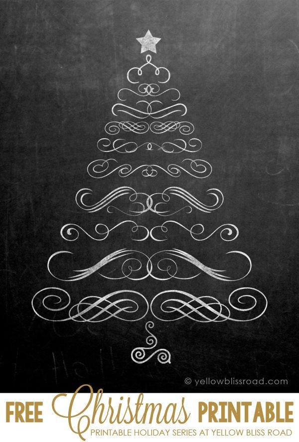 Free Printable Chalkboard Christmas Tree Bake Craft Sew Decorate