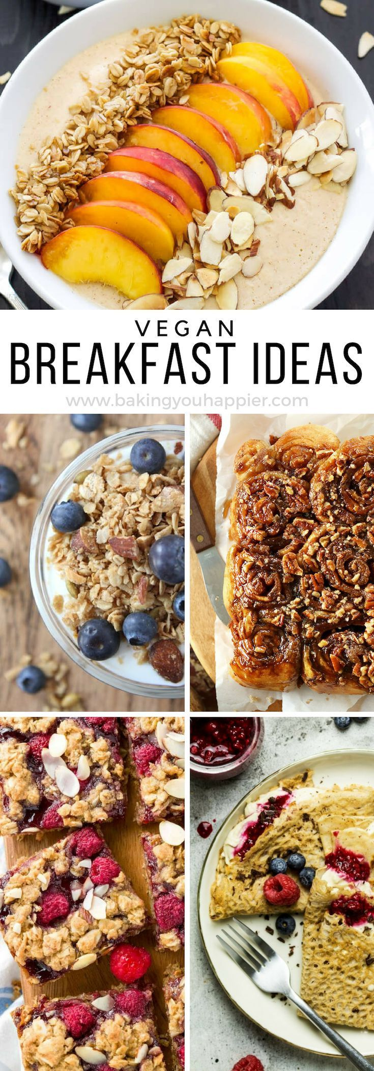 Quick And Easy Vegan Breakfast Ideas Baking You Happier Vegan Breakfast Easy Vegan Recipes Easy Quick Vegan Breakfast