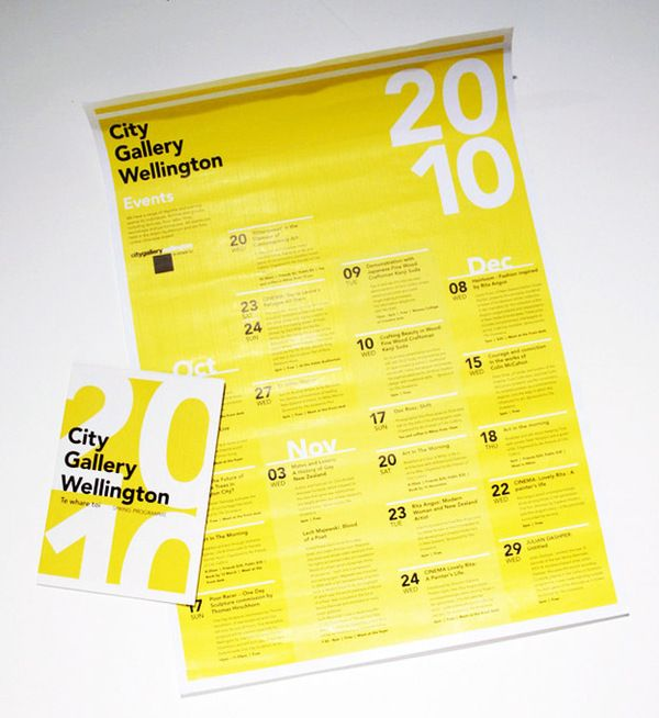City Gallery Spring Exhibition Calendar/Brochure by Rose Wu, via Behance