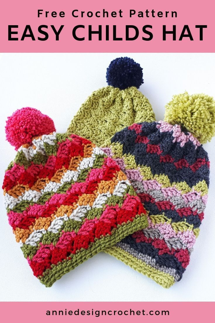 An Easy Crochet Hat Pattern For Kids  That Is Simple And