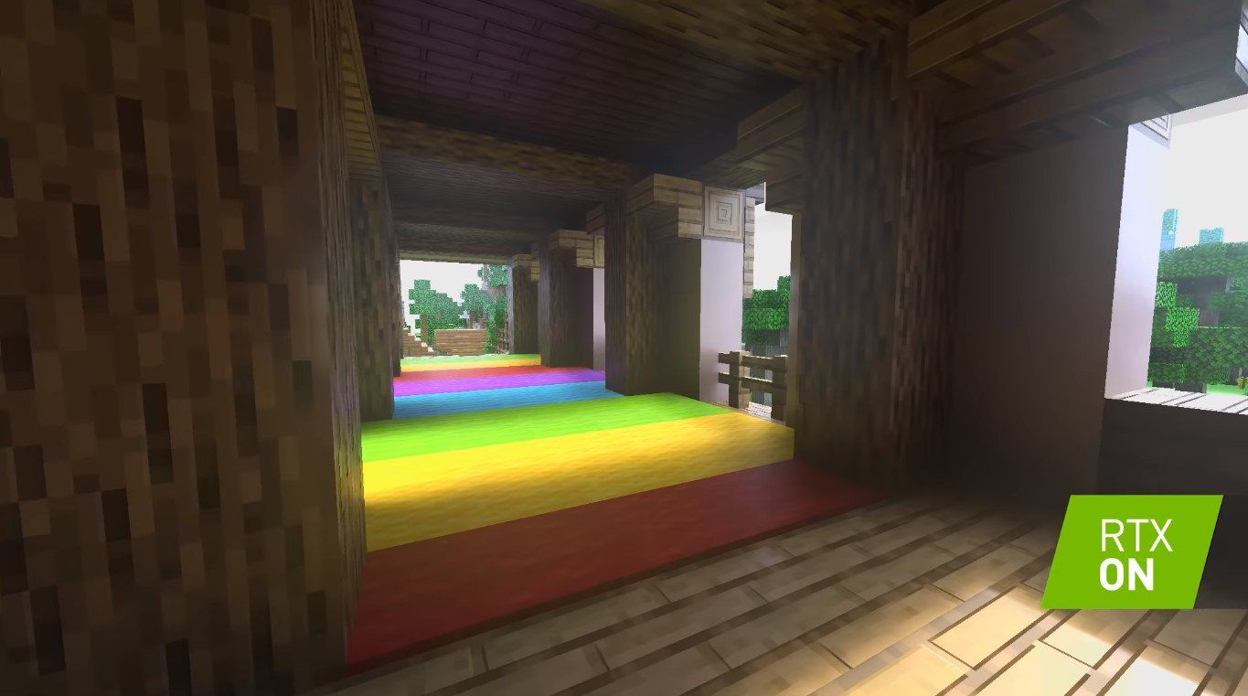 Minecraft With Ray Tracing May Need Nvidia S Rtx 2060 At The Very Least Sandbox Title Offers Honey Block For Parkour Lovers Geforce Parkour Minecraft Nvidia