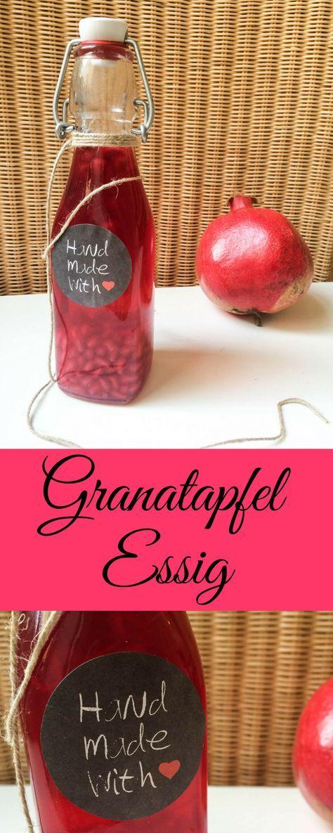 Selbstgemachte Weihnachtsgeschenke.Granatapfel Essig