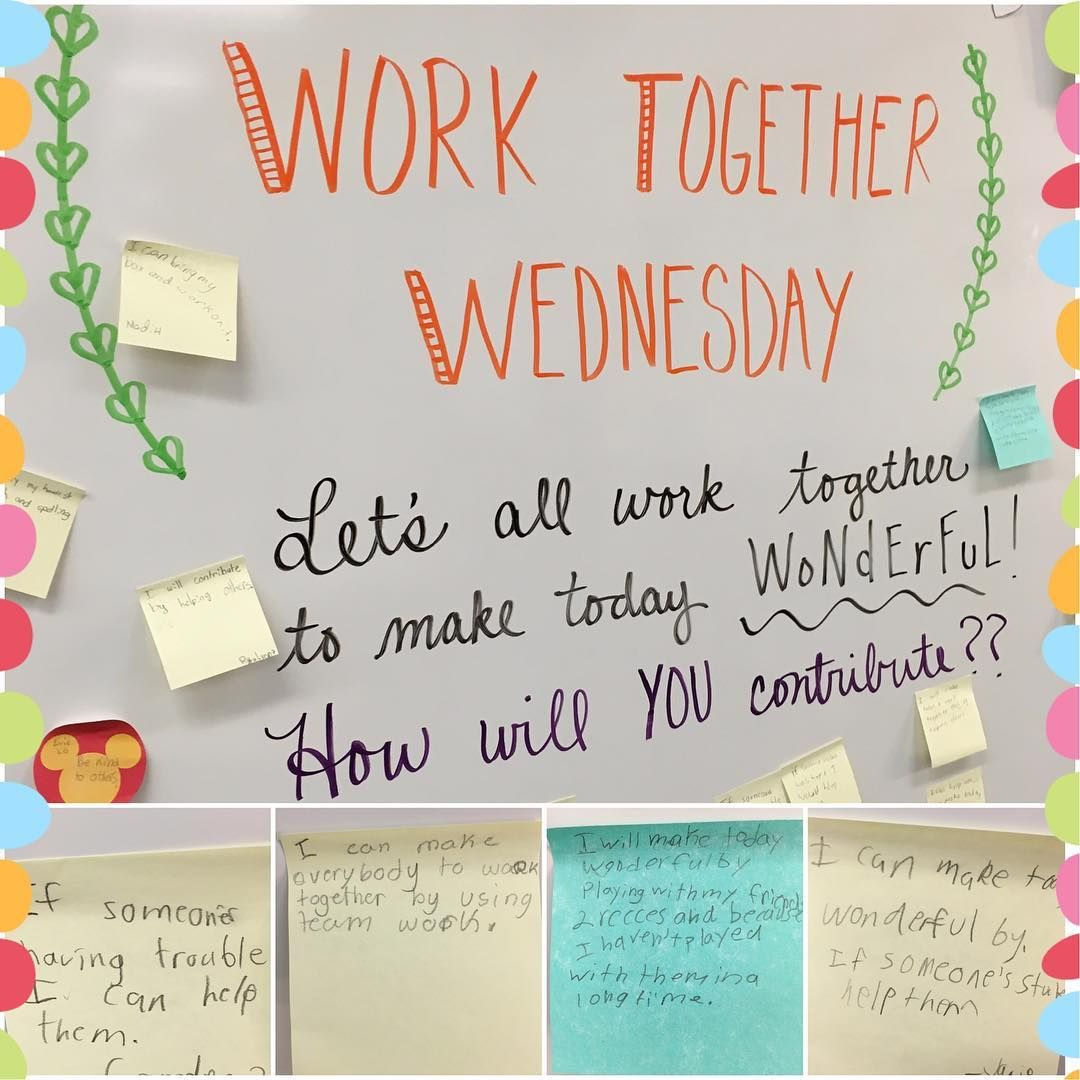 Work together Wednesday | whiteboard | Pinterest | Teamspiele und Lernen