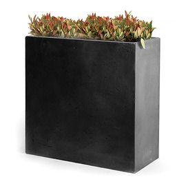 Bac fleurs fibre de terre clayfibre l60 h72 cm for Jardiniere rectangulaire haute