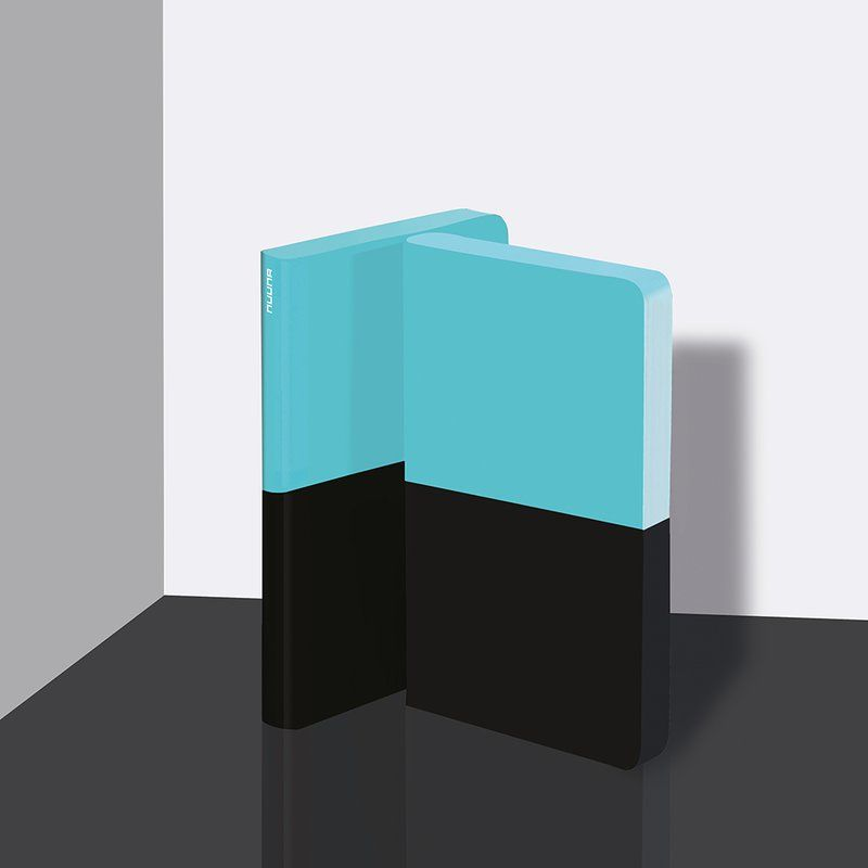 Graphic Dipped M - Turquoise/Black |flexcover notebook by nuuna