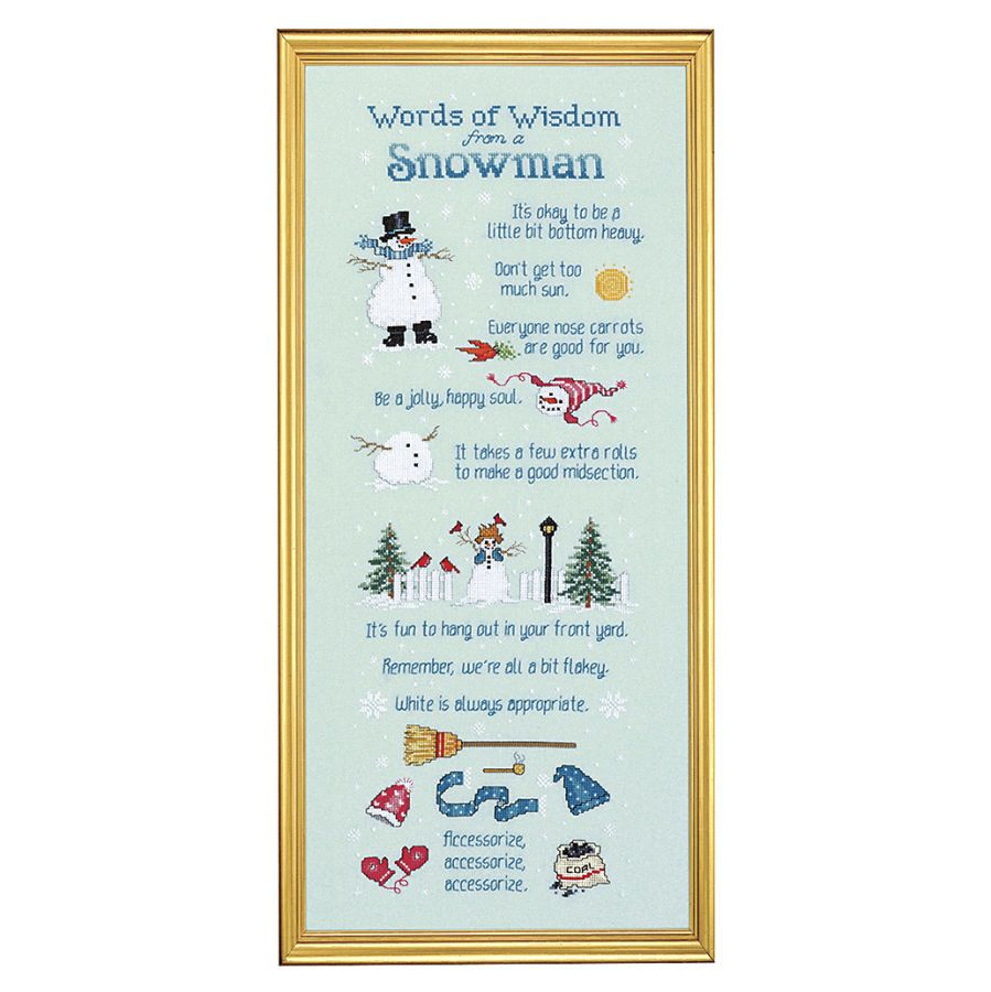 Winter forest sampler counted cross stitch kit cross stitch