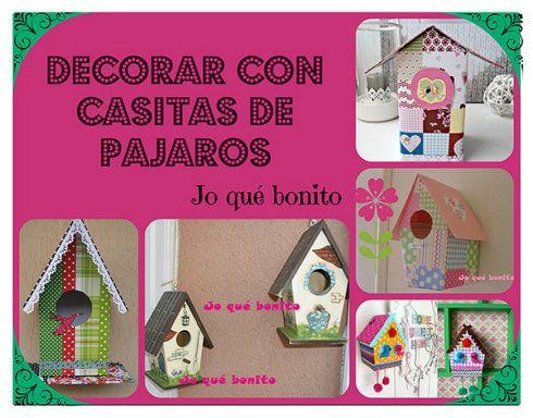 Decora tu hogar con casitas de p jaros elaboradas y for Home disena y decora tu hogar