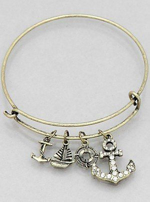 Womens Jewelry, Crystal Anchor Hook Sailboat Buoy Bangle Bracelets Color : Burnished Gold Size : Diameter:2.25inch JE001 http://www.amazon.com/dp/B00WIW63CM/ref=cm_sw_r_pi_dp_OoTcwb0N7TYP1
