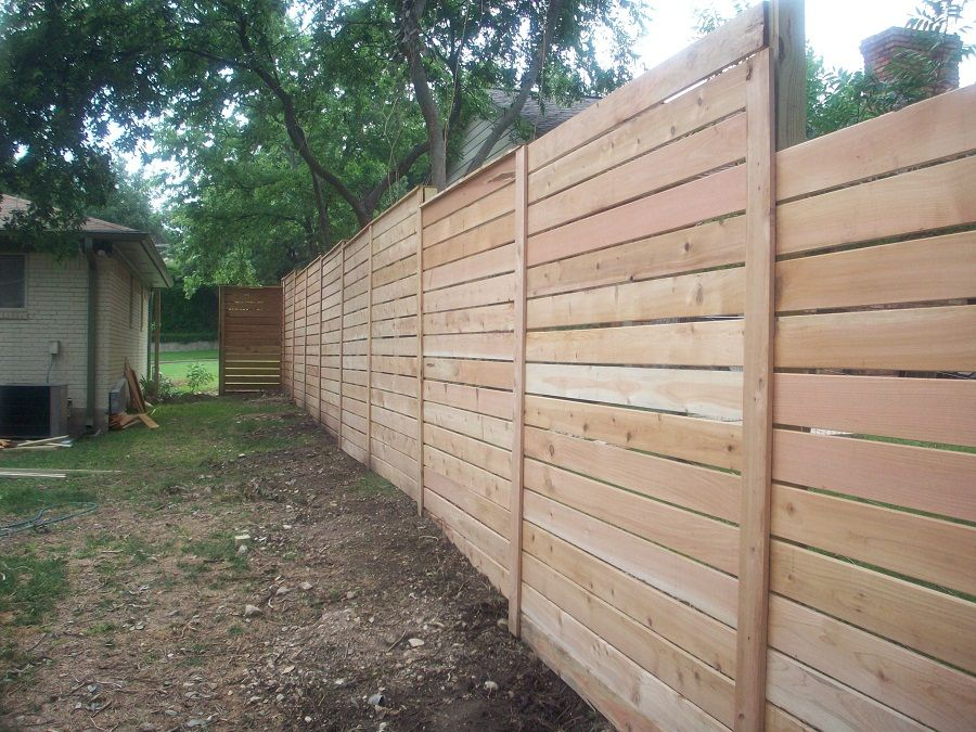 Image of: Horizontal Fence Panels Design | Home improvement ...