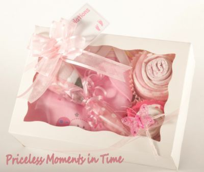 Baby Gift Cupcake Sets...so cute!! Love the ingredients inside!