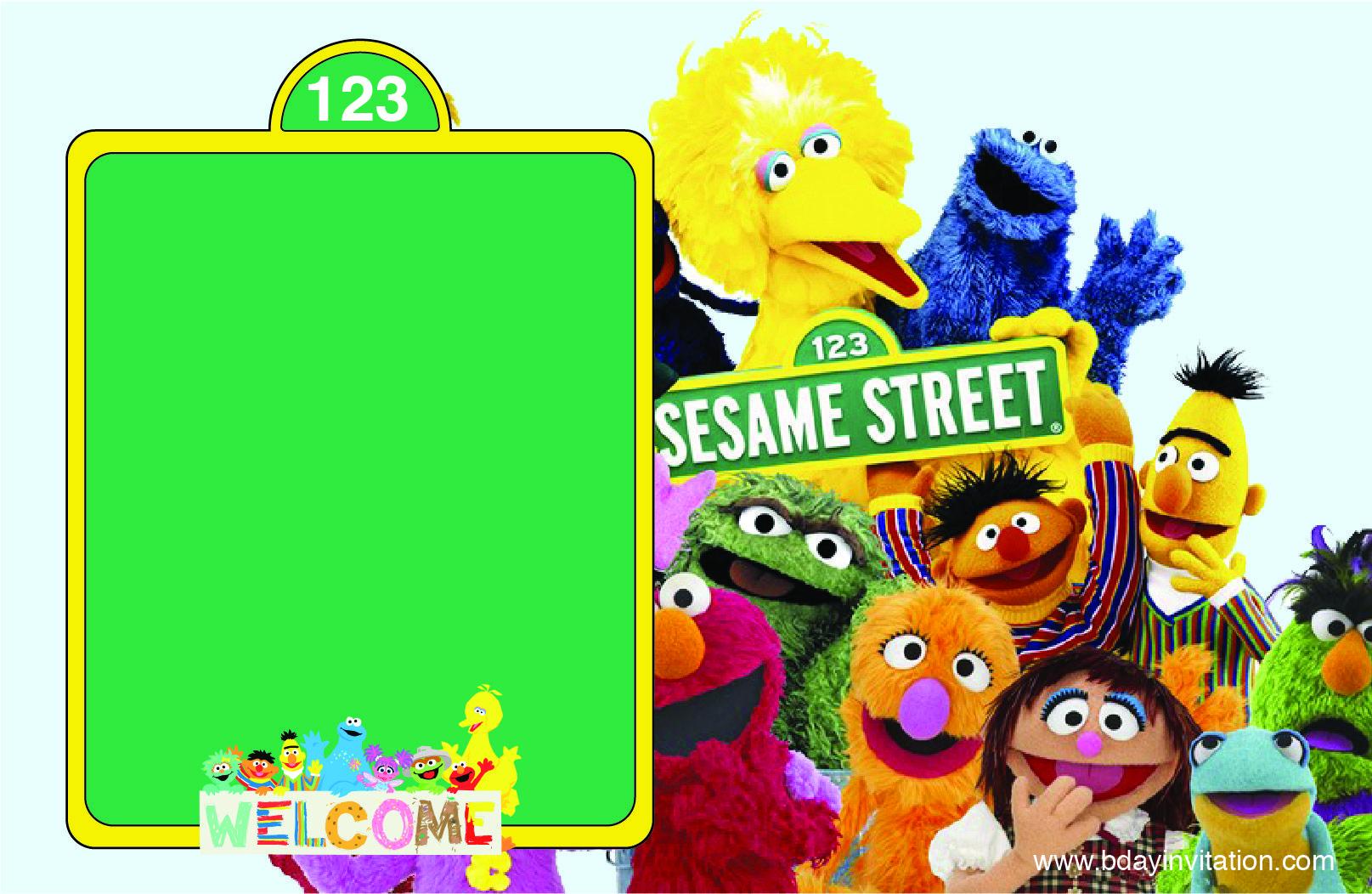 Cool FREE Printable Sesame Street Birthday Invitation Template ...